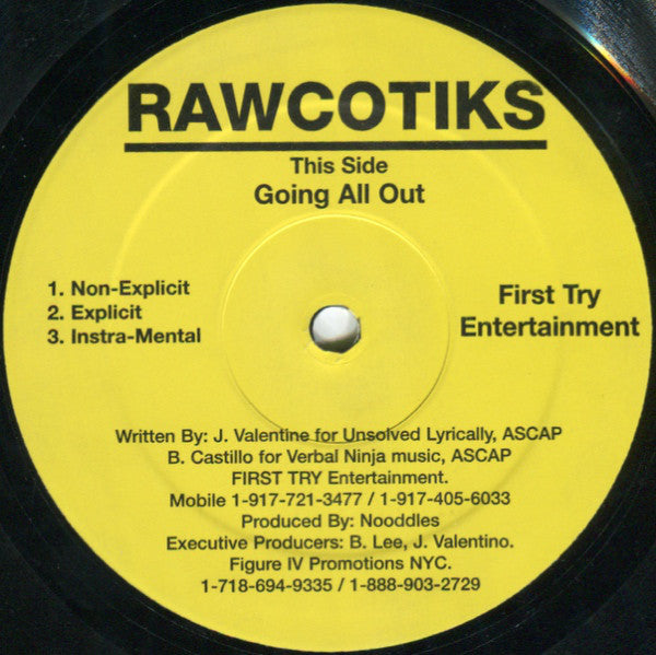 Rawcotiks - Going All Out (Vinyle Usagé)