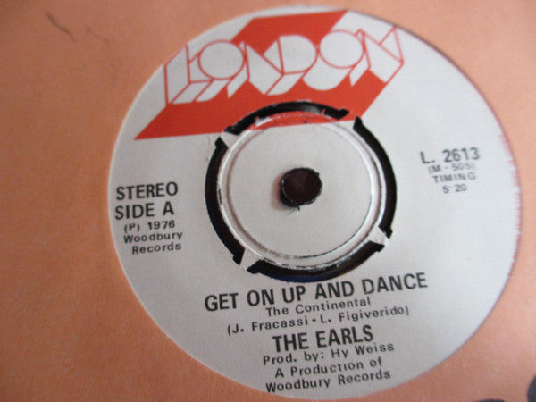 The Earls - Get On Up And Dance (the Continental) (45-Tours Usagé)