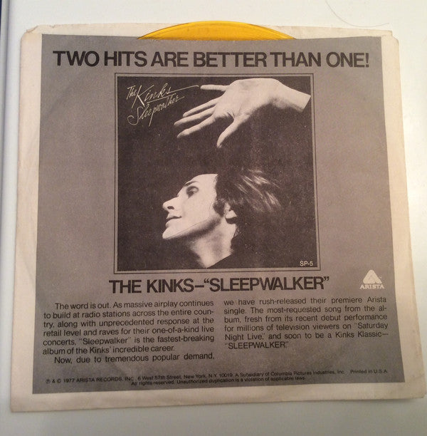 The Kinks / The Hollywood Stars - Sleepwalker / All The Kids On The Street (45-Tours Usagé)