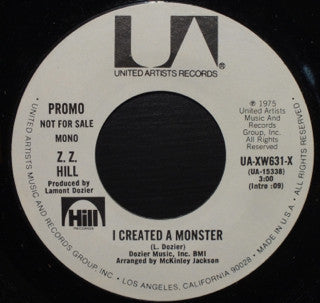 Zz Hill - I Created A Monster (45-Tours Usagé)