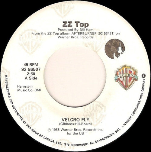 Zz Top - Velcro Fly / Woke Up With Wood (45-Tours Usagé)
