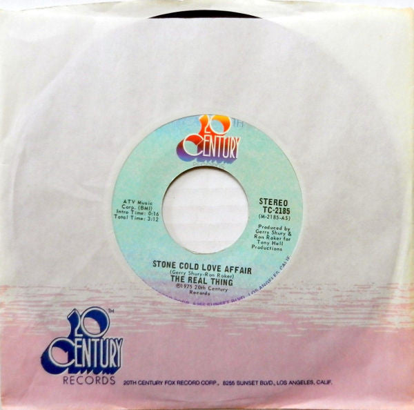 The Real Thing - Stone Cold Love Affair / A Love Thats Real (45-Tours Usagé)