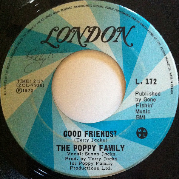 The Poppy Family - Good Friends? / Tryin (45-Tours Usagé)