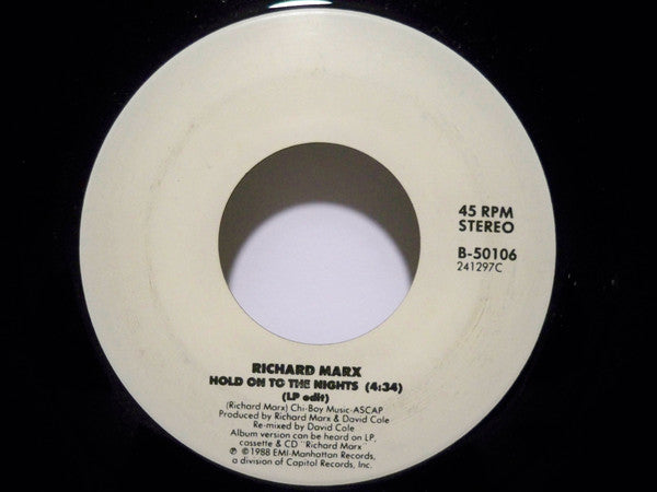 Richard Marx - Hold On To The Nights (45-Tours Usagé)