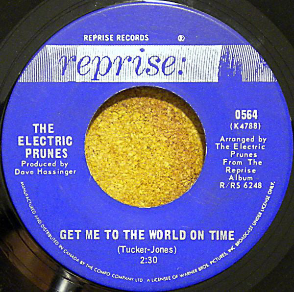The Electric Prunes - Get Me To The World On Time / Are You Lovin Me More (45-Tours Usagé)