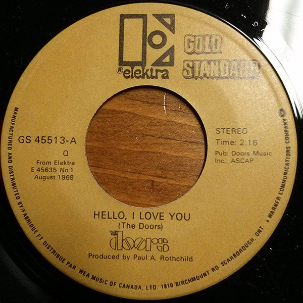 The Doors - Hello I Love You (45-Tours Usagé)