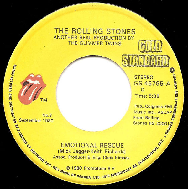 The Rolling Stones - Emotional Rescue (45-Tours Usagé)