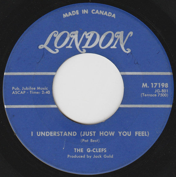 The G-clefs - I Understand (just How You Feel) / Little Girl I Love You (45-Tours Usagé)