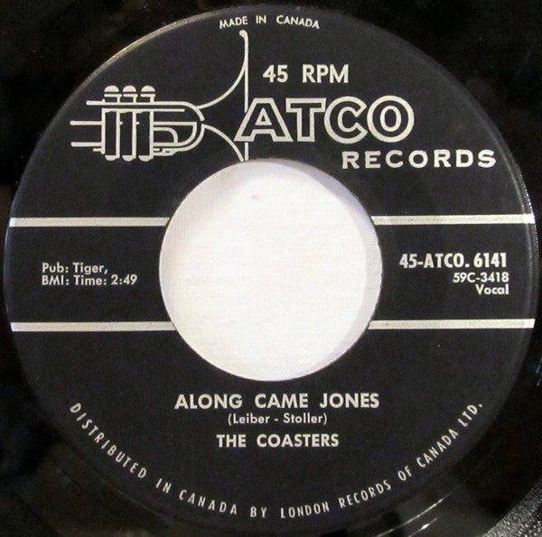 The Coasters - Along Came Jones / That Is Rock And Roll (45-Tours Usagé)