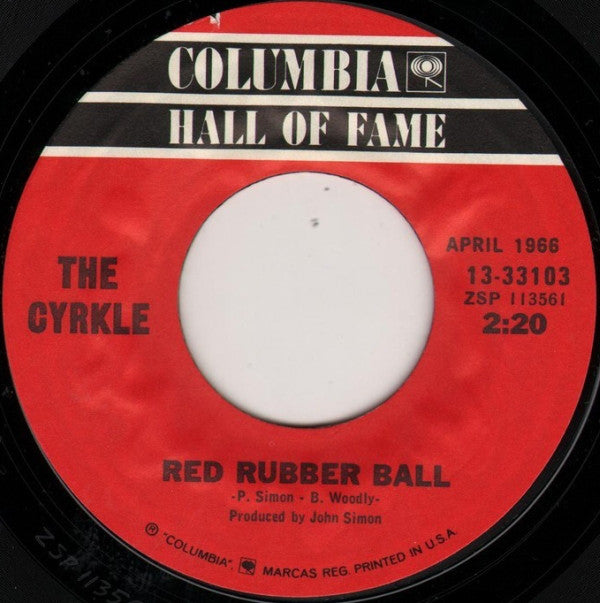 The Cyrkle - Red Rubber Ball / Turn-down Day (45-Tours Usagé)