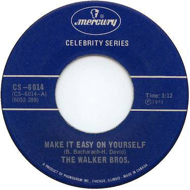 The Walker Brothers - Make It Easy On Yourself (45-Tours Usagé)
