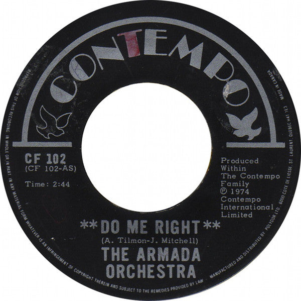 The Armada Orchestra - Do Me Right (45-Tours Usagé)