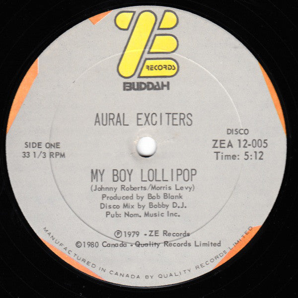 Aural Exciters - My Boy Lollipop (Vinyle Usagé)