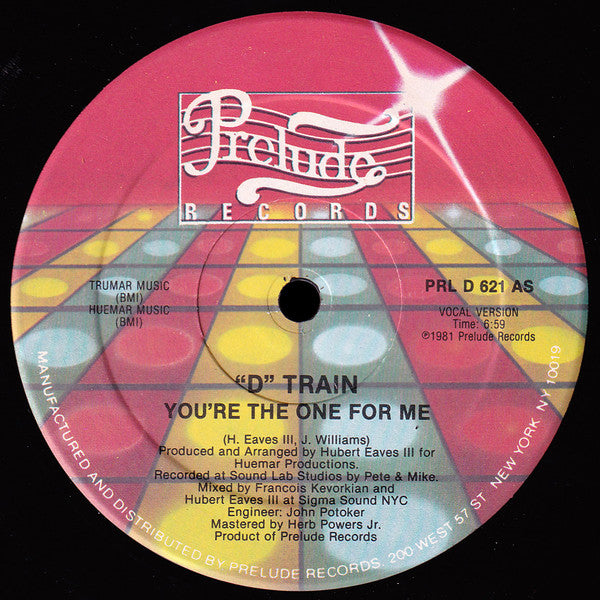 D Train - Youre The One For Me / Keep Giving Me Love (Vinyle Neuf)