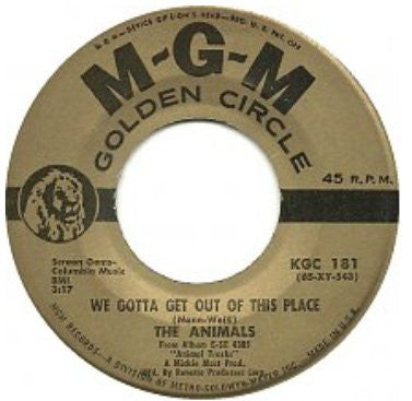 The Animals - We Gotta Get Out Of This Place / Bring It On Home To Me (45-Tours Usagé)