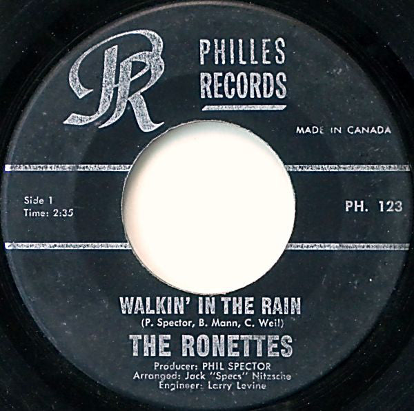 The Ronettes - Walking In The Rain (45-Tours Usagé)