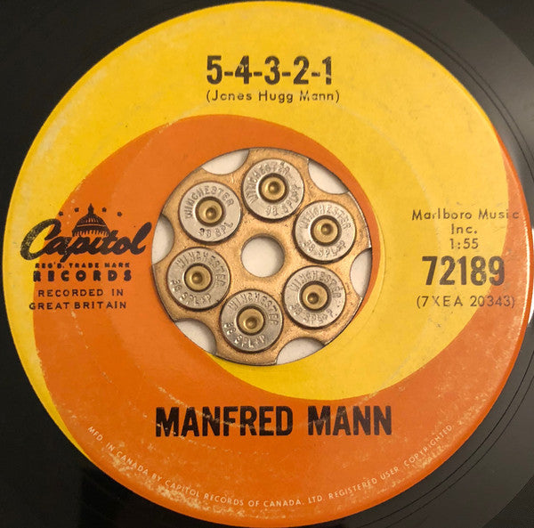 Manfred Mann - 5-4-3-2-1 / Without You (45-Tours Usagé)