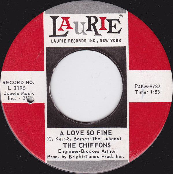 The Chiffons - A Love So Fine / Only My Friend (45-Tours Usagé)