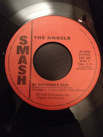The Angels (3) - My Boyfriends Back/i Adore Him (45-Tours Usagé)