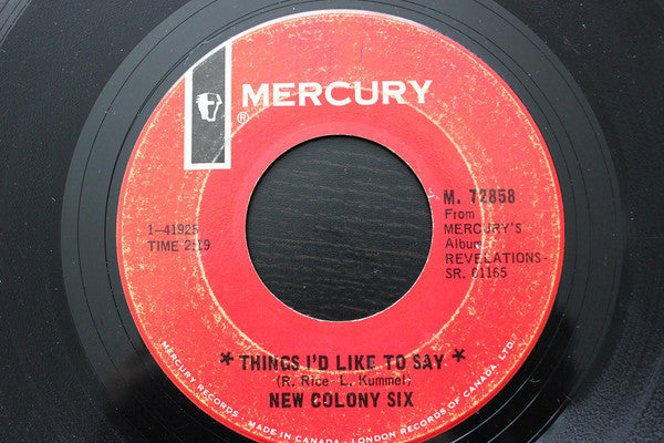 The New Colony Six - Things Id Like To Say / Come And Give Your Love To Me (45-Tours Usagé)