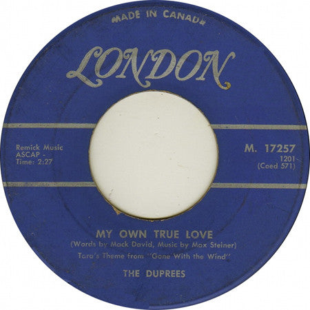 The Duprees - My Own True Love / Ginny (45-Tours Usagé)