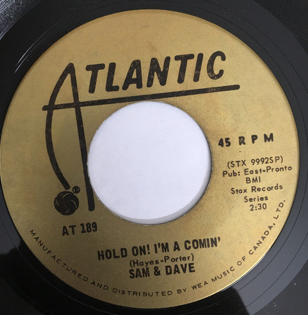 Sam And Dave - Hold On! Im Comin / I Got Everything I Need (45-Tours Usagé)