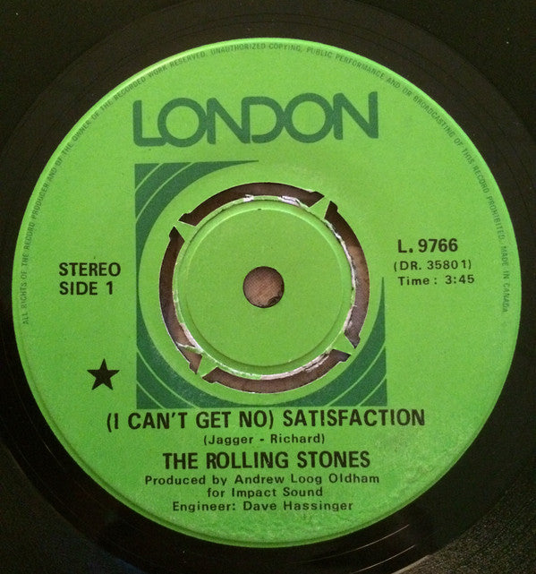 The Rolling Stones - (i Cant Get No) Satisfaction (45-Tours Usagé)