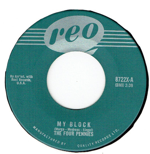 The Four Pennies (3) - My Block / Dry Your Eyes (45-Tours Usagé)