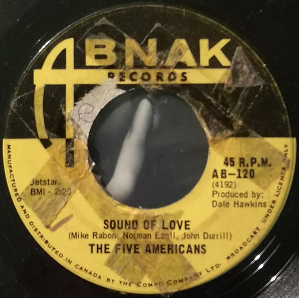 The Five Americans - Sound Of Love (45-Tours Usagé)
