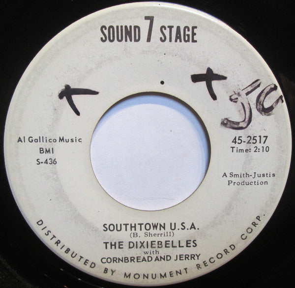 The Dixiebelles With Cornbread And Jerry - Southtown Usa (45-Tours Usagé)
