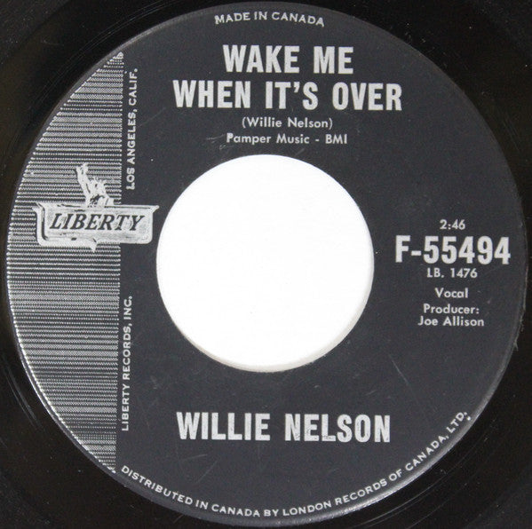 Willie Nelson - Wake Me When Its Over / Theres Gonna Be Love In My House (45-Tours Usagé)
