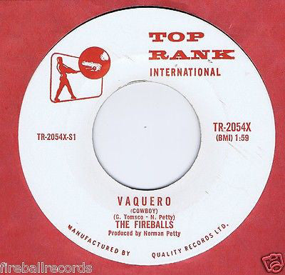 The Fireballs - Vaquero (cowboy) (45-Tours Usagé)