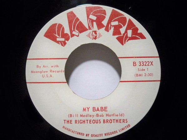 The Righteous Brothers - My Babe (45-Tours Usagé)