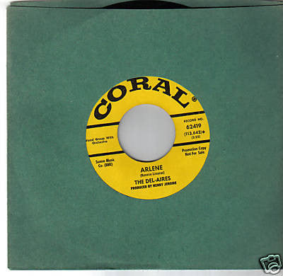 The Del-aires - Im Your Baby / Arlene (45-Tours Usagé)