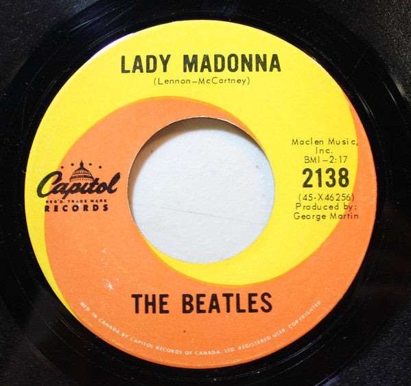 The Beatles - Lady Madonna (45-Tours Usagé)