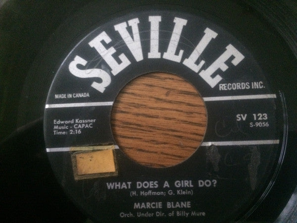 Marcie Blane - What Does A Girl Do? (45-Tours Usagé)