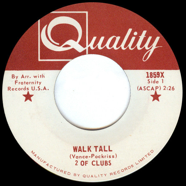 2 Of Clubs - Walk Tall (45-Tours Usagé)