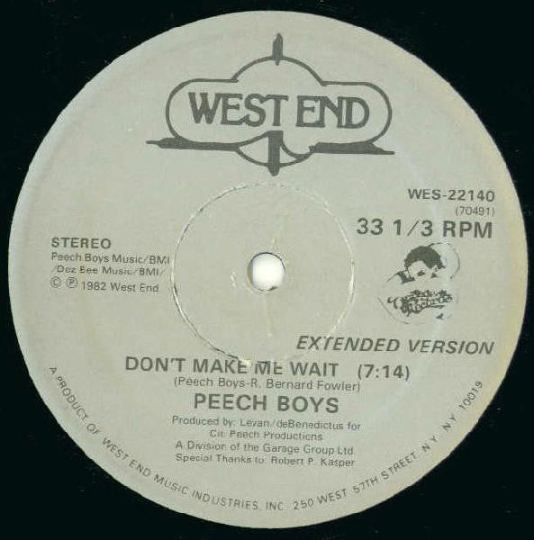 Peech Boys - Dont Make Me Wait (Vinyle Neuf)