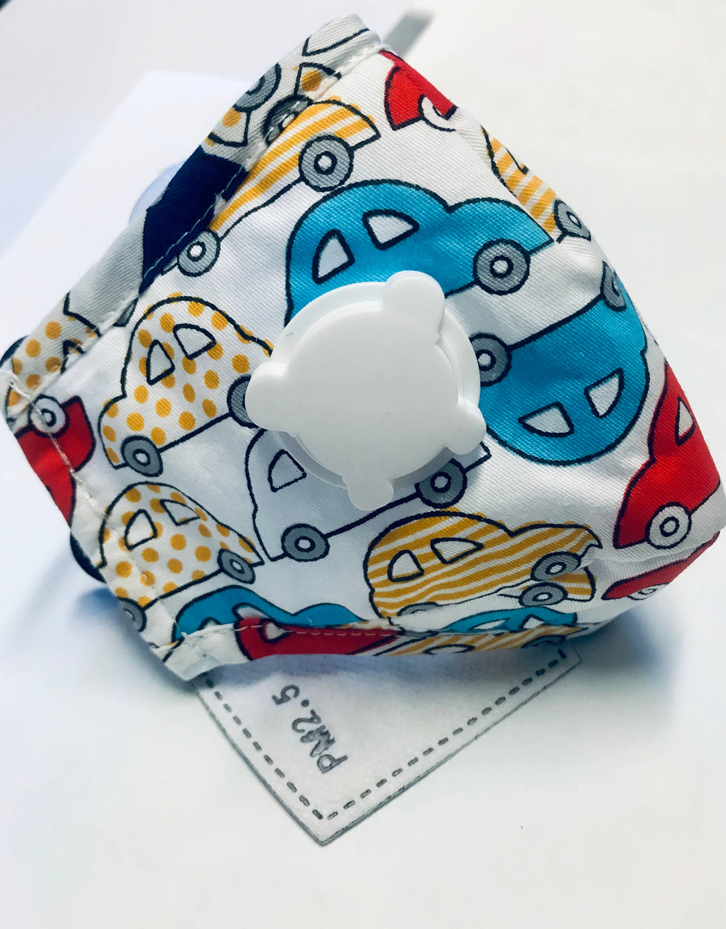 Child Mask with Vent Boy Cars