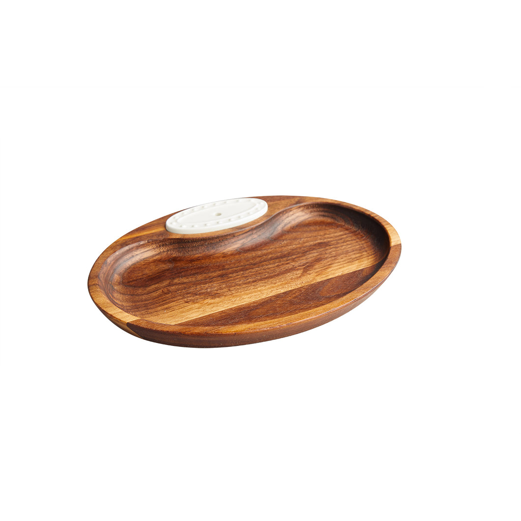 Walnut Tidbit Dish - N4