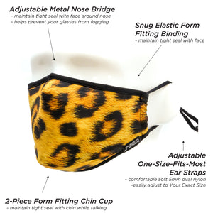 Face Masks Leopard Fabric Face Covering