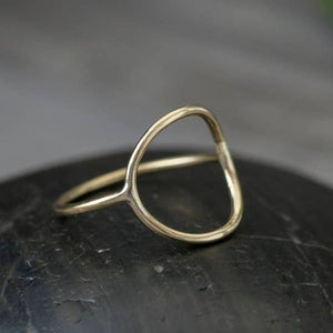 Ring Brass Open Circle Size 8 BRO61