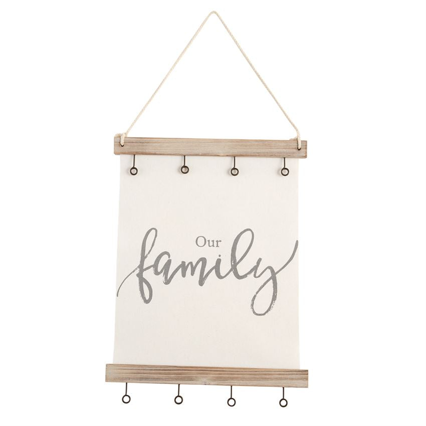 Frame Our Family Canvas Clip