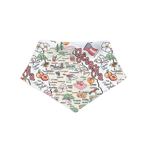 Georgia Map Bandanna Bib PIMA