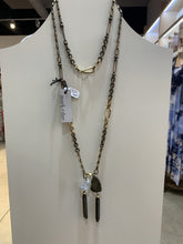 Load image into Gallery viewer, Necklace Pyrite Herkimer QuBook Artz Long Lariat