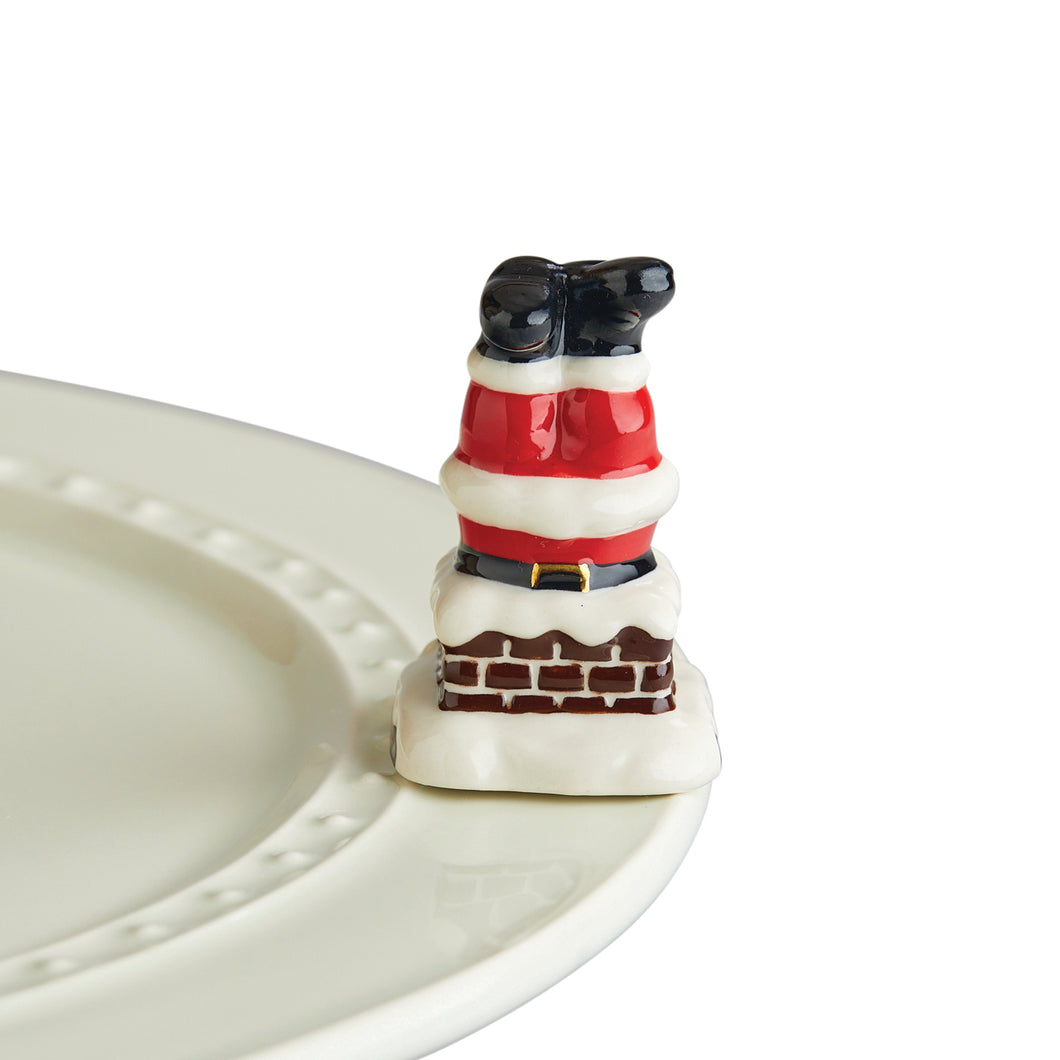 Mini Down the Chimney Santa Legs - A256