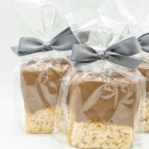 Hand Dipped Caramel Crispy Treats.