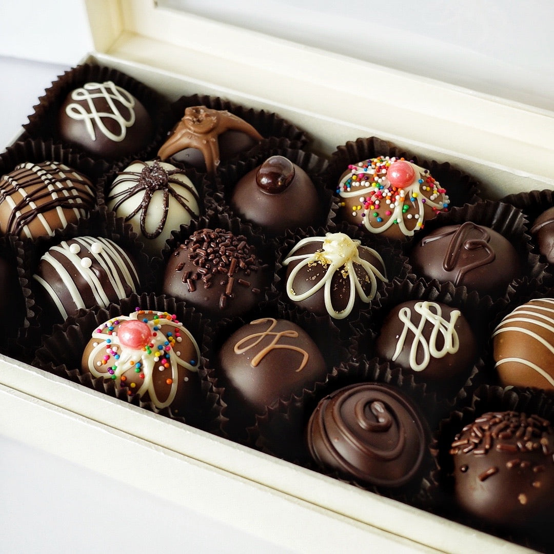 18 Piece Box of Hand Dipped Chocolate Truffles