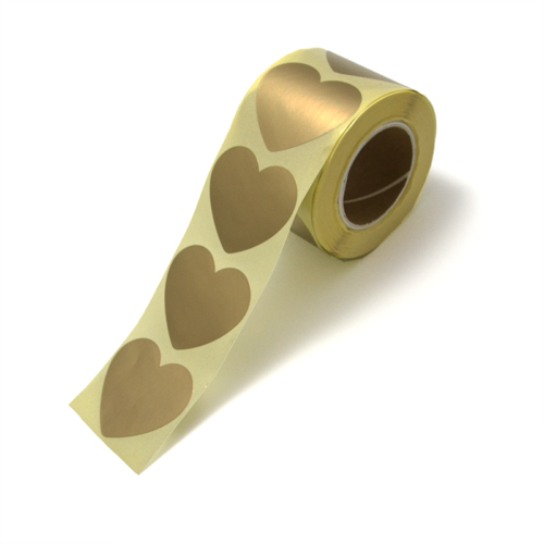 Stickers hartje rose golden