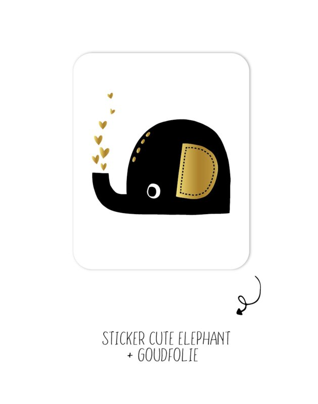 Sticker olifant